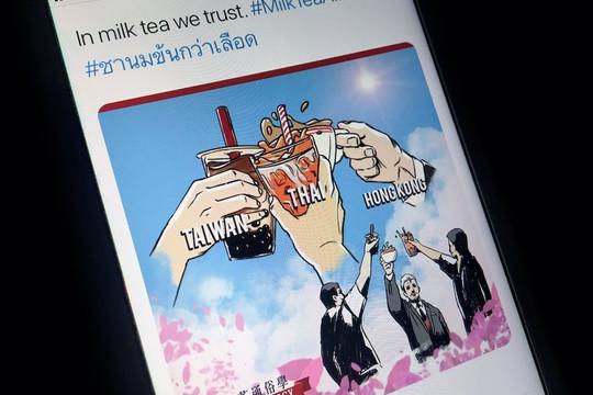 Twitter ra mắt biểu tượng Liên minh Trà sữa ủng hộ người biểu tình Myanmar, Hồng Kông, Thái Lan
