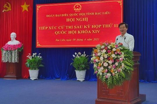 Phó thủ tướng Lê Minh Khái tiếp xúc cử tri tại Bạc Liêu