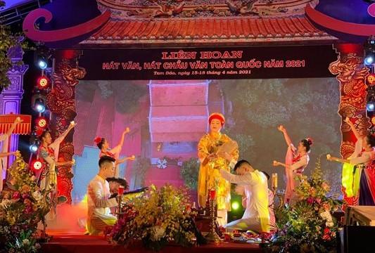 Liên hoan hát văn, hát chầu văn toàn quốc diễn ra trong 3 ngày tại Vĩnh Phúc