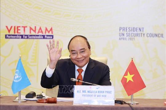 Chủ tịch nước Nguyễn Xuân Phúc chủ trì Phiên thảo luận mở Cấp cao của HĐBA LHQ