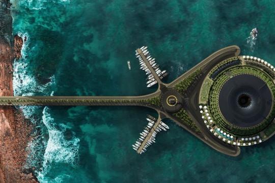 Khách sạn nổi tự tạo ra điện, là đỉnh cao của kiến trúc sinh thái
