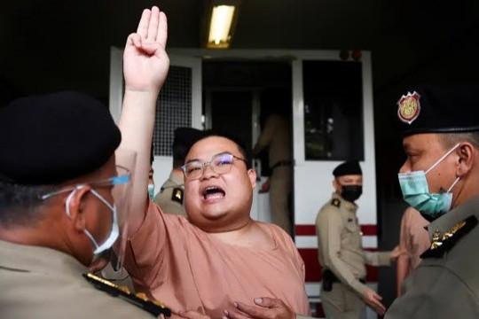Mẹ bỏ việc đấu tranh nhiều tháng, lãnh đạo biểu tình và ca sĩ Thái xúc phạm vua được tại ngoại