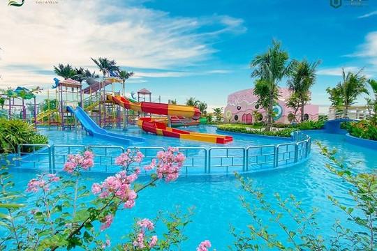 """""""Mục sở thị"""" công viên nước nằm trong khu đô thị sinh thái golf đầu tiên tại Long An"""