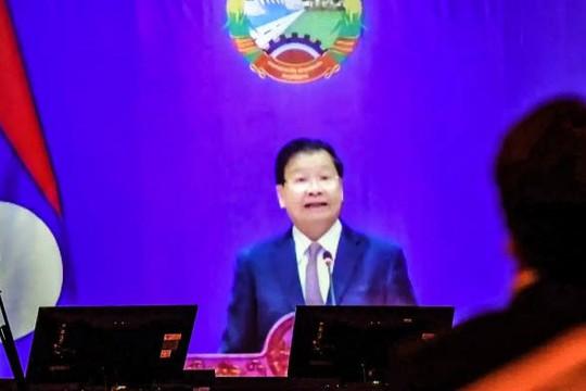 Lãnh đạo Lào: Công nghệ và hợp tác sẽ giúp đánh bại đại dịch, cần thêm vắc xin hỗ trợ