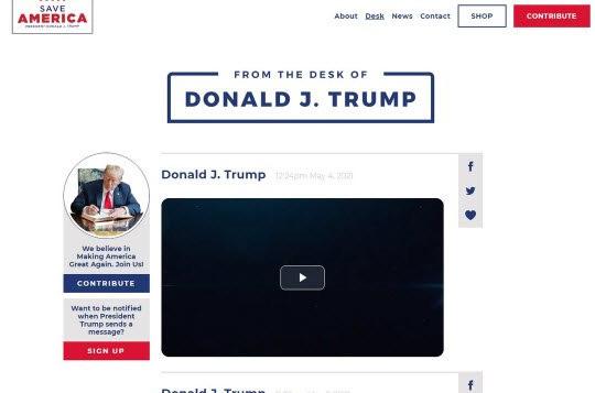 Blog của ông Trump chết yểu sau chưa đầy 1 tháng