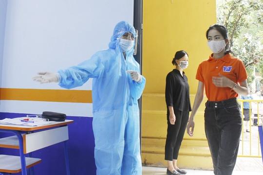 Hà Nội diễn tập công tác phòng chống dịch trong kỳ thi vào lớp 10
