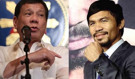 Võ sĩ Pacquiao phản pháo khi bị Tổng thống Duterte nói thiếu kiến thức về Biển Đông