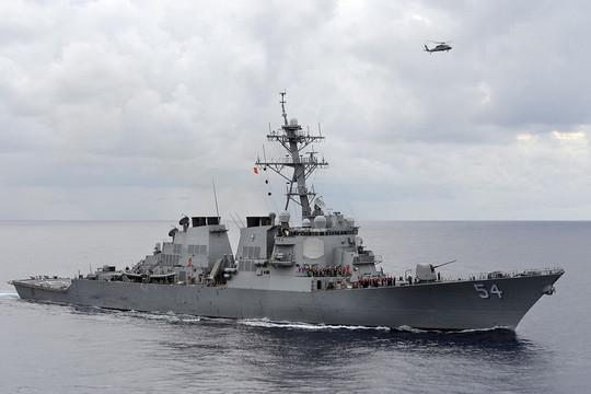 Tàu chiến Mỹ mang tên lửa đi qua eo biển Đài Loan sau cuộc xâm nhập của 28 máy bay Trung Quốc