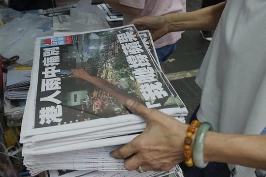 """Báo Apple Daily đóng cửa: """"Hồi chuông báo tử"""" cho tự do báo chí và ngôn luận tại Hồng Kông"""