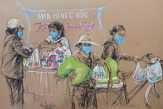 Sài Gòn bao dung, nghĩa tình được khắc họa trong tranh của họa sĩ Lê Sa Long