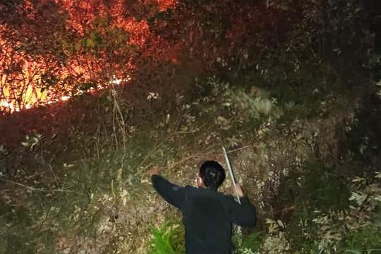 Hà Tĩnh: Hàng trăm người dập đám cháy rừng trong đêm