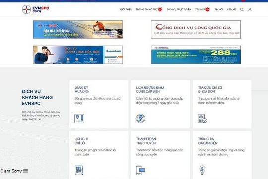 EVNSPC khuyến khích khách hàng sử dụng dịch vụ trực tuyến trong thời gian giãn cách xã hội