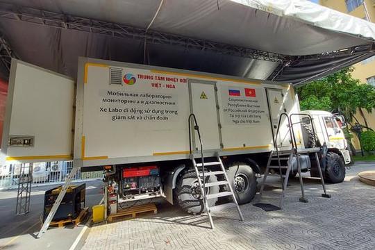 Siêu xe xét nghiệm lưu động được Bộ Quốc phòng điều vào hỗ trợ TP.HCM