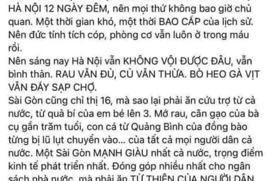 Chủ tài khoản Facebook Nguyễn Hằng bị Sở TT-TT TP.HCM mời lên làm việc