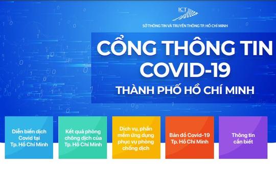 TP.HCM ra mắt cổng thông tin về dịch COVID-19