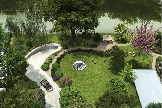 Kiến trúc ấn tượng của showroom xe dưới lòng đất lấy cảm hứng từ phim James Bond