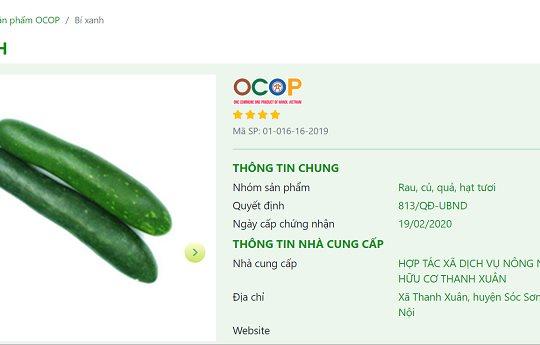 Hà Nội đi đầu trong triển khai Chương trình OCOP