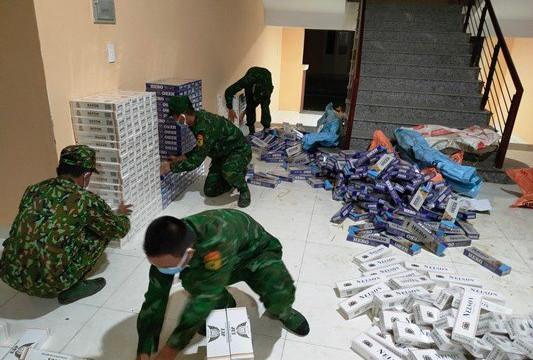 Bộ đội Biên phòng An Giang thu giữ hơn 11.000 gói thuốc lá nhập lậu