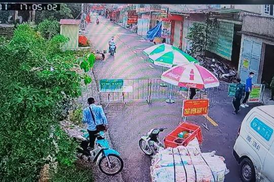 Thường Tín, Hà Nội: Giám sát việc phòng chống dịch bằng camera an ninh