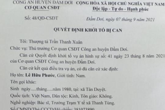 Một bác sĩ ở Cà Mau bị khởi tố