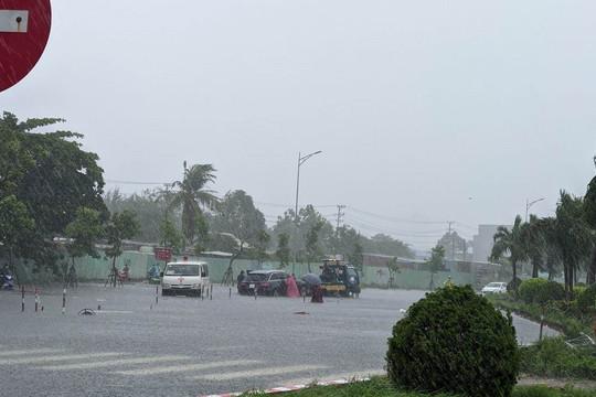 Đà Nẵng: Nhiều nơi ngập nặng, cây cối đổ ngã do ảnh hưởng của bão số 5