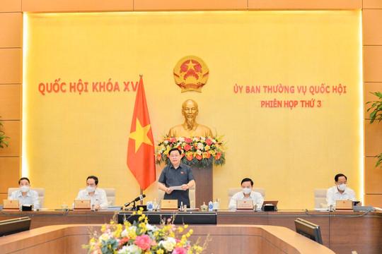 Ủy ban Thường vụ Quốc hội khai mạc phiên họp thứ 3