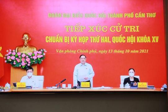 Thủ tướng Phạm Minh Chính tiếp xúc trực tuyến với cử tri TP.Cần Thơ